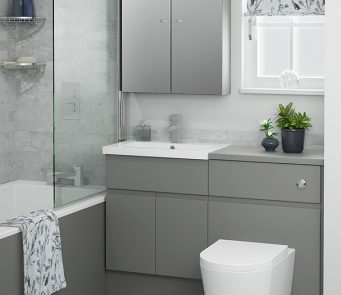 Atlanta bathroom furniture be modern for Small fitted bathrooms
