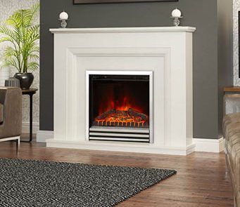 Your choice from this collection will look as though it's been part of your home forever. Quick and simple to install with no need for chimney breast or flue, and the latest LED technology cosily creates the shimmering effect of logs or coals.