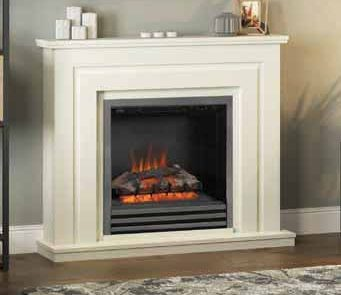This ultimately convenient fire is designed to be installed without any building work. Simply unpack, plug in and enjoy a complete fireplace package with a warm glowing fire effect plus independently controlled 1kW and 2kW heat output.